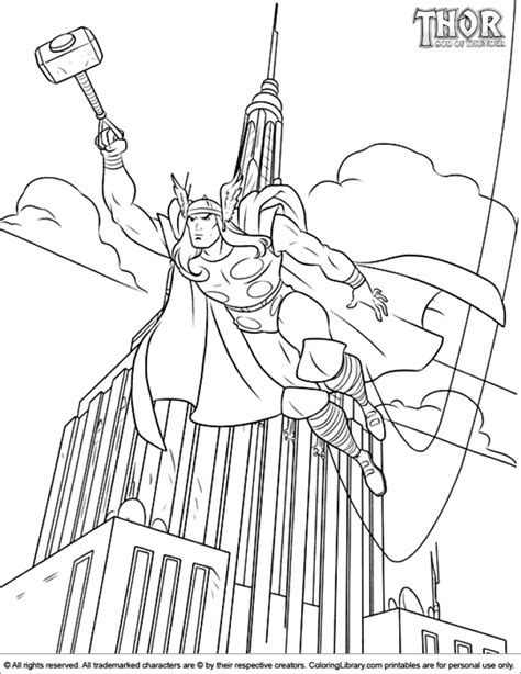thor coloring pages online get this online thor coloring pages 17433