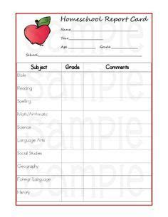 homeschool grade card template 5 reasons homeschoolers should use report cards printable