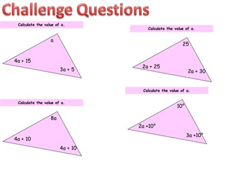 Calculate Missing Angles In A Triangle Ks3 Gcse By