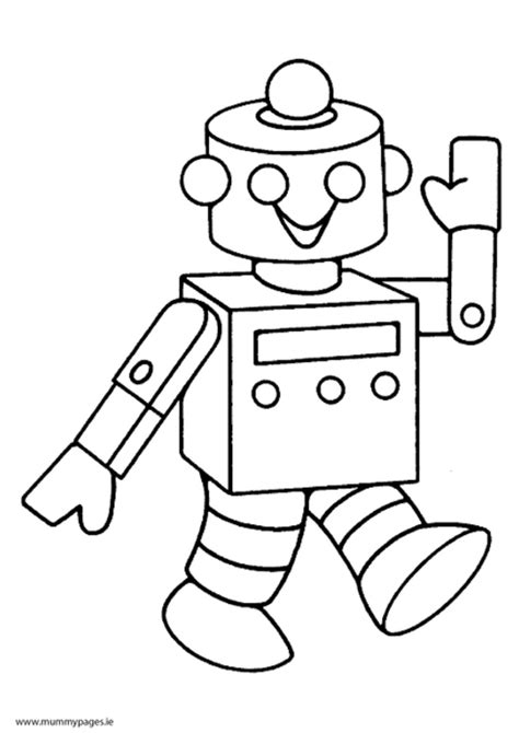 robot coloring pages pdf robot colouring page mummypages mummypages ie