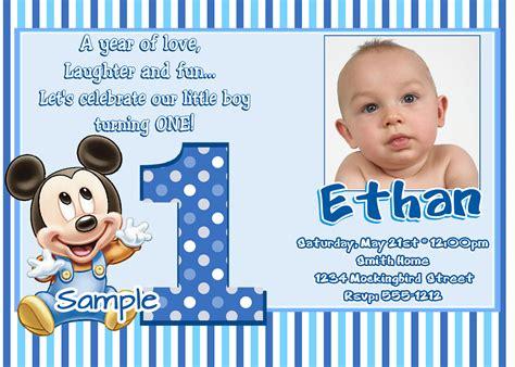 baby boy 1st birthday invitation cards bg68 mickey mouse 1st birthday invitations