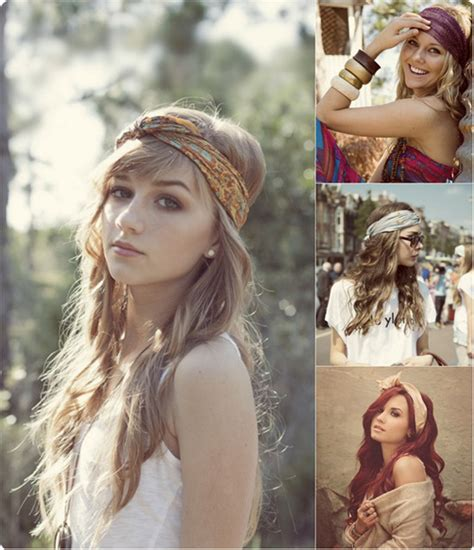 bandana hairstyles for shoulder length hair why not try hair accessories in this autumn medium