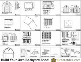 Gambrel Roof Plans 12x16 gambrel shed plans 12x16 barn shed plans