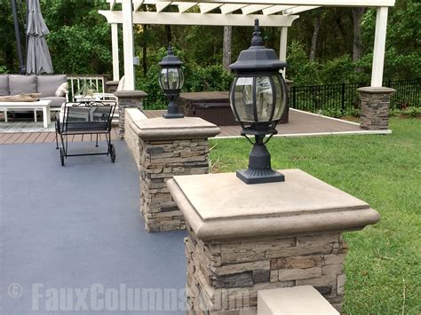 Patio Pillar Lights Pillar Caps Add Appeal And Style Creative Columns