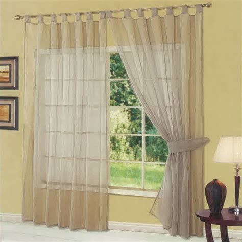 plain tab top curtains dreamscene plain woven voile tab top curtain panel ebay
