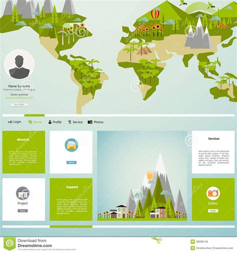 women of web design on earth web site digital designer modern eco website template with flat eco earth map