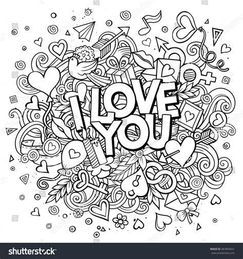 doodle of i you vector doodle i you illustration