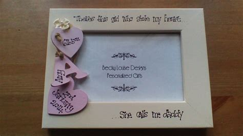 Scrabble Letters Home Decor by Personalised Daddy Daughter Baby Photo Frame 6x4 Ebay