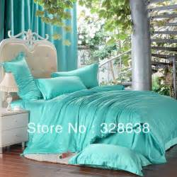 Turquoise Duvet Cover King Free Shipping 4pcs Noble Tencel Bedding Set Turquoise