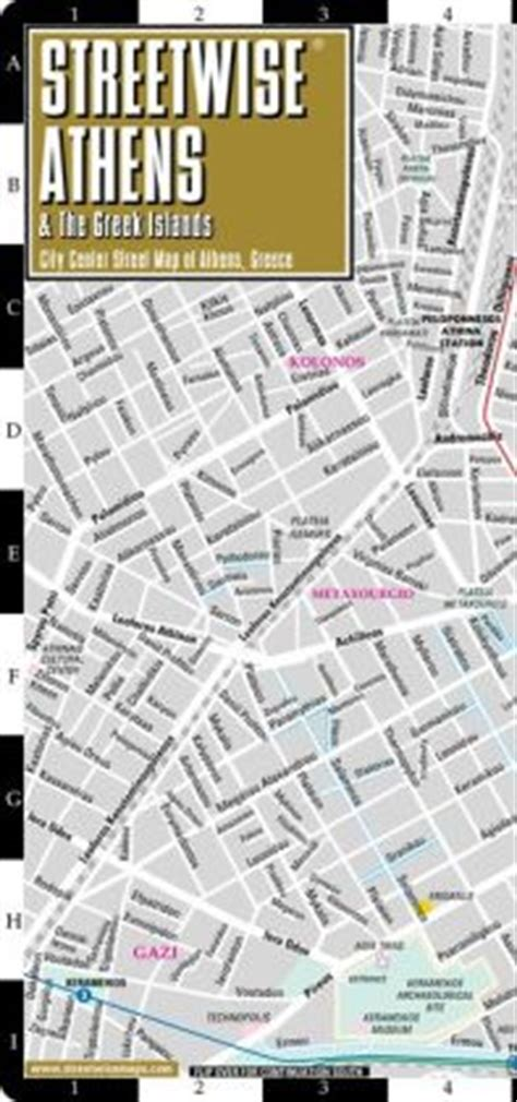 streetwise map laminated city center map of michelin streetwise maps books streetwise athens map laminated city center map