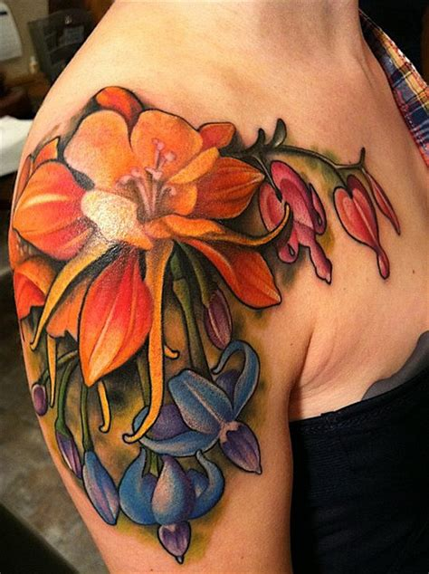 amanda tattoo bright flower the best flower tattoos