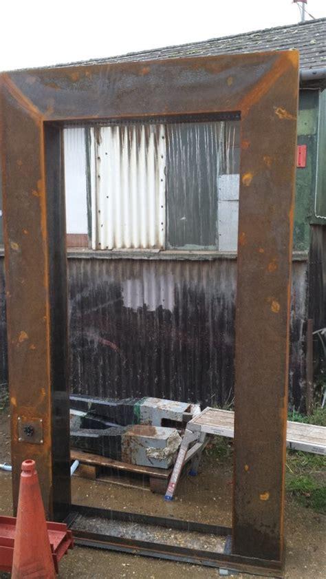 rain curtain water feature corten steel water feature andew jordan garden