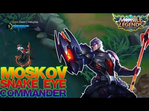 Kaos Mobile Legend Moskov Skin Starlight Snake Eye Commander Fullprint snake eye commander mp3 songs free and play musica