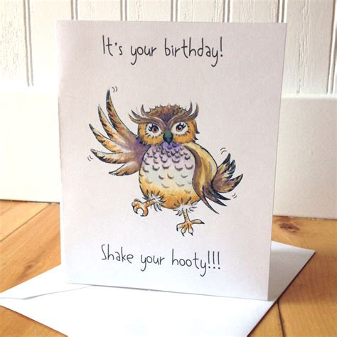 printable owl birthday card owl birthday card it s your birthday shake your hooty
