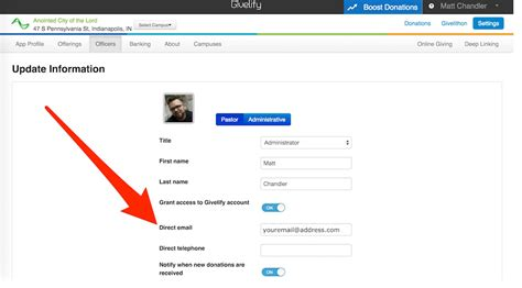 doodle 4 email address how do i change the email address for my givelify