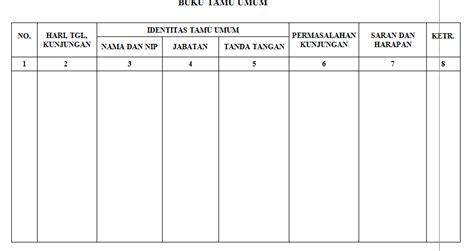 contoh format buku tamu paud tk ra tahun ajaran 2016 2017 alive zainul 2016