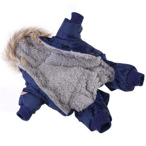 small puppy clothes new arrival winter warm small pet clothes padded hoodie jumpsuit