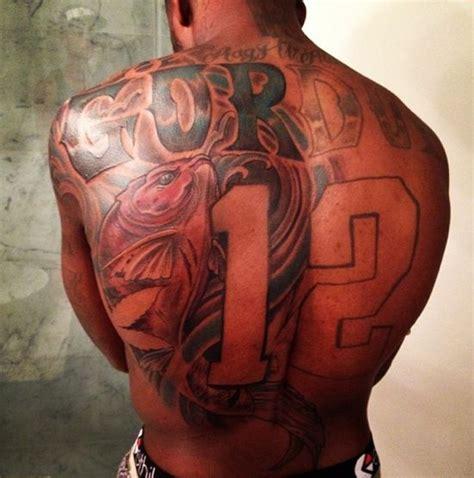 jonny gomes tattoo josh gordon gets a no 12 tattooed on his back