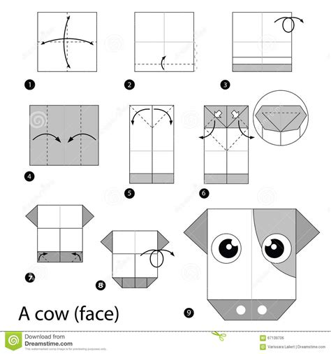 How To Make An Origami Cow - how to make an origami cow 28 images completed origami