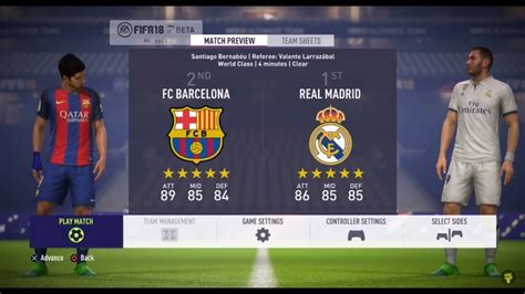 barcelona b fifa 18 fifa 18 demo barcelona vs real madrid new features
