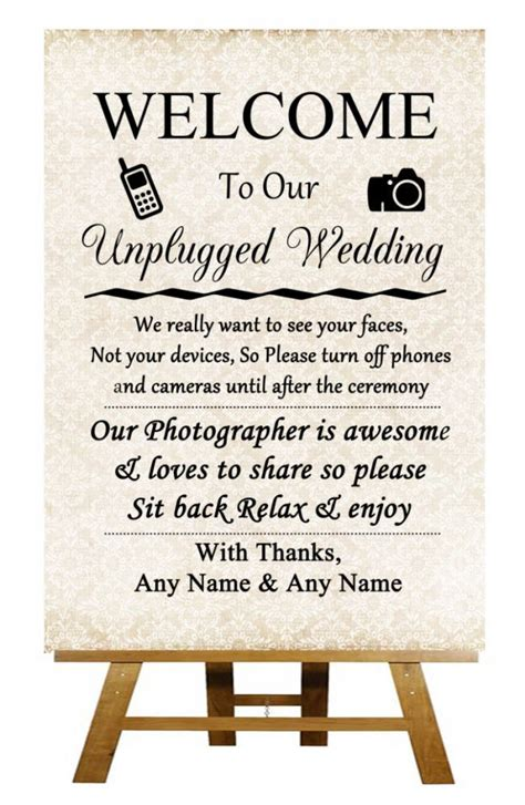 Unplugged Wedding Announcement by Best 25 Unplugged Wedding Sign Ideas On