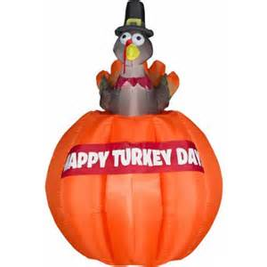 thanksgiving airblown inflatables 4 5 ft airblown inflatables animated rising turkey