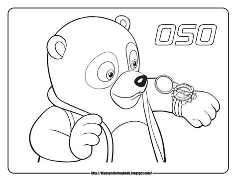 Special Agent Oso 1 Free Disney Coloring Sheets Learn Disney Jr Characters Coloring Pages