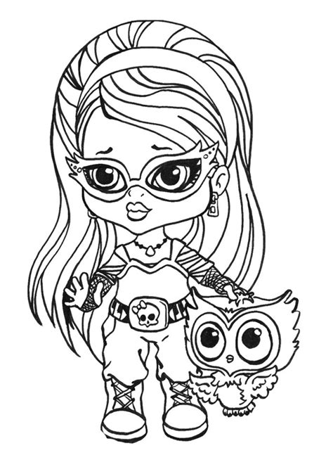 little monster high coloring pages little ghoulia yelps coloring page monster high coloring