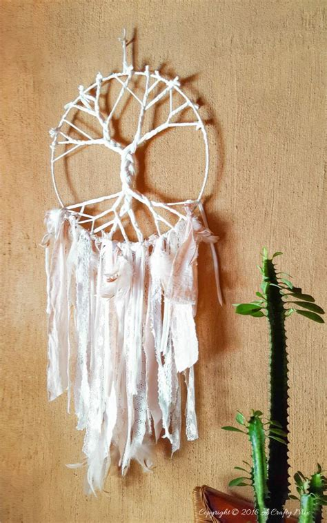 dreamcatcher how to make a unique tree of life dreamcatcher using t shirt yarn