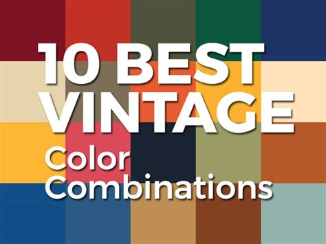best vintage 10 best vintage 2 color combinations for logo design with