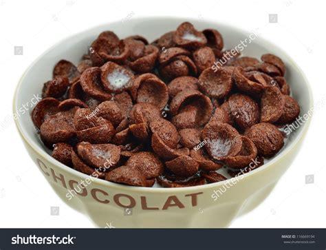 Cornflakes Choco bowl chocolate cornflakes milk stock photo 116669194
