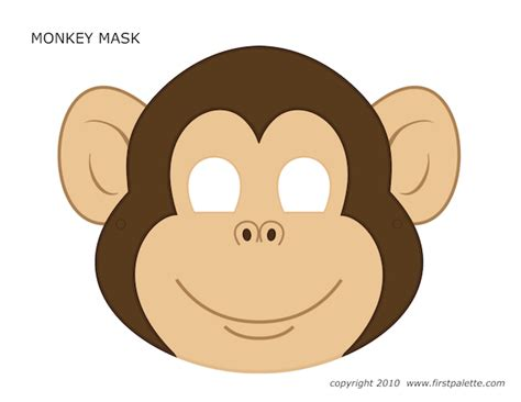 monkey mask template mask print out and printable patterns printable