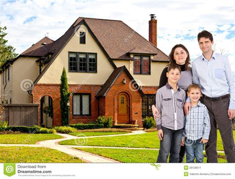 House With Family by Happy Family And House Stock Image Image 29128511