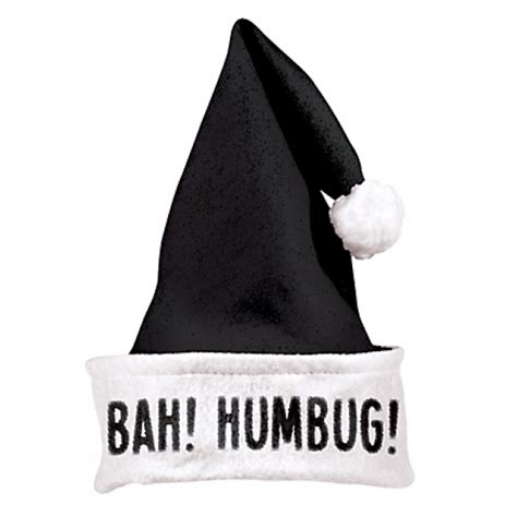bah humbug black santa hat 5 custom santa hats