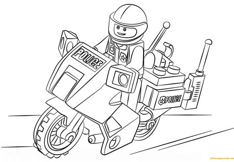 motorcycle coloring pages online lego city motorcycle police coloring page free coloring