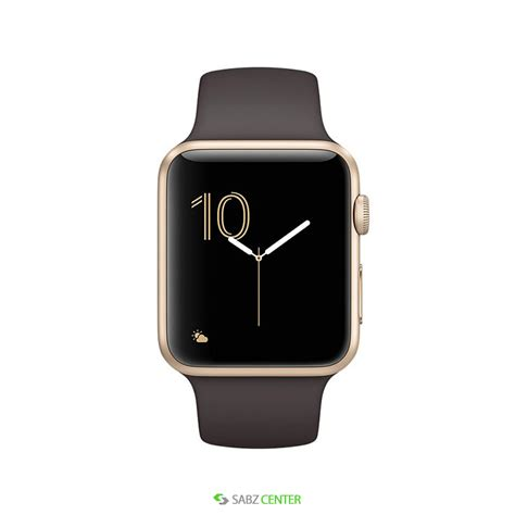 Apple 42mm Gold apple 42mm gold aluminum with cocoa band