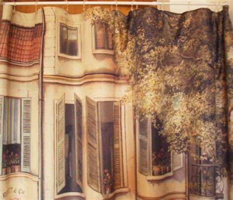 french country shower curtains french country paris cafe house shower curtain c style ebay