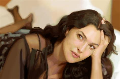 monica bellucci painting monica bellucci digital painting by george mucollari on