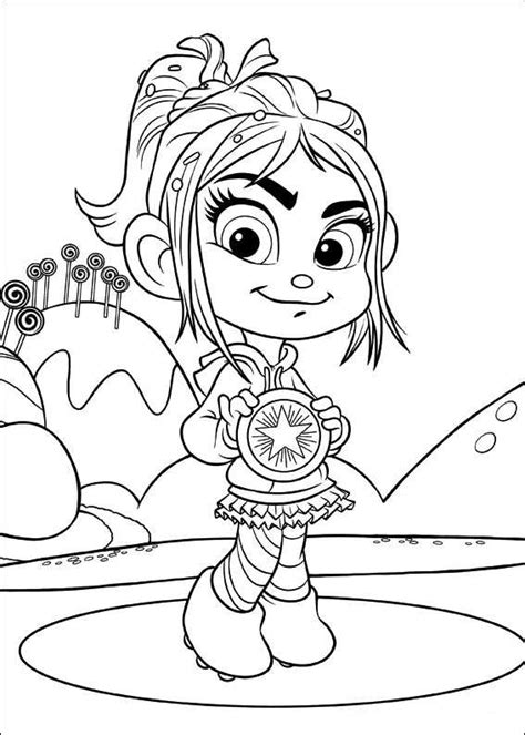 kids n fun com coloring page wreck it ralph vanellope