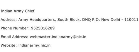 Army Email Address Lookup Indian Army Chief Address Contact Number Of Indian Army Chief