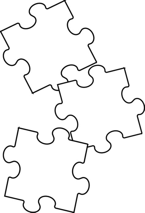 black and white printable jigsaw puzzles black white puzzle piece clip art vector online royalty