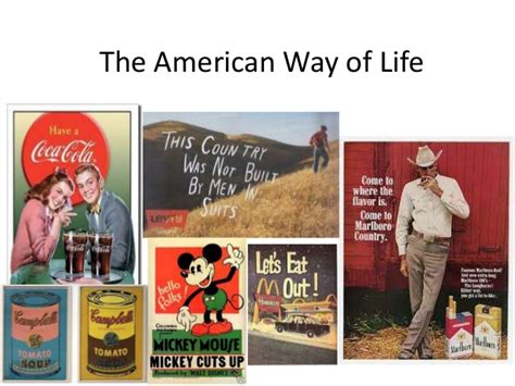 the ways of the the american way of life