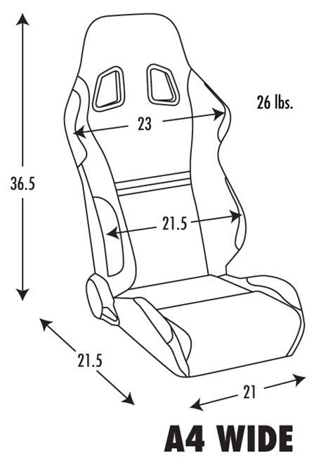 corbeau sport seat dimensions corbeau a4 racing seat wide version black microsuede