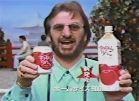 ringo starr japan ringo starr promotes japanese apple juice video