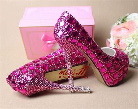 Handmade High Heels - purple rhinestone bling handmade custom high heels peep