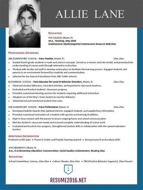 Best Resume Template by Resume Templates 2016 Which One Should You Choose