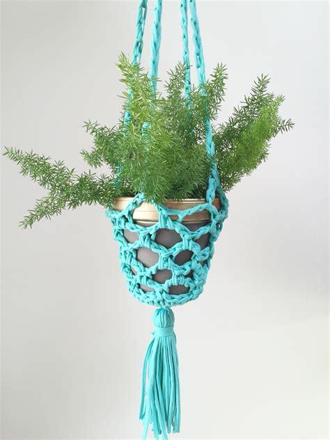 Yarn Plant Hanger - plant happy crochet planter hanger plant hangers
