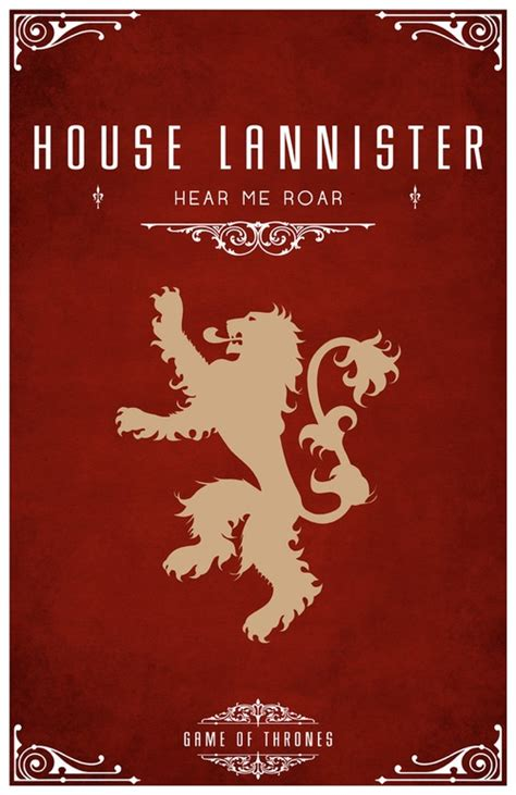 House Designer Game minimalist quot game of thrones quot house sigil posters by tom