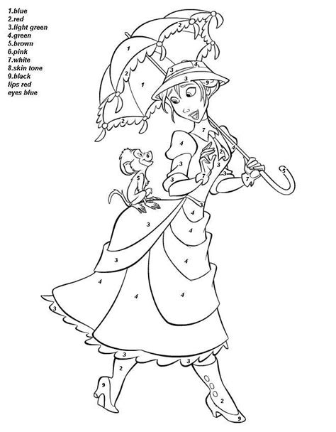 X2 Coloring Page by Color By Number Disney Colouring Pages Color By Number