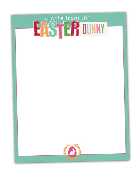 m k designs blog easter bunny stationary